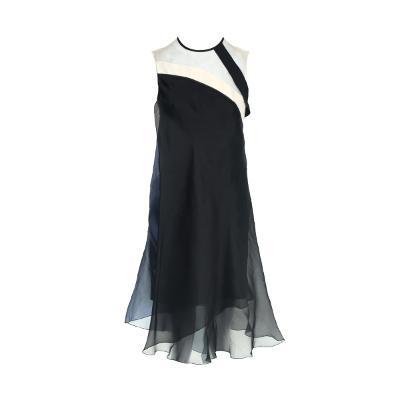 see through sleeveless dress ivory